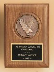 American Walnut Eagle Casting Plaque Achievement Award Trophies