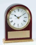 Piano Finish Mahogany Slanted Arch Clock Boss Gift Awards