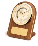 American Walnut Arch World Clock Boss Gift Awards