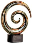 Swirl Art Glass Award Boss Gift Awards