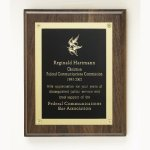 Walnut Rosette Plaque Employee Awards