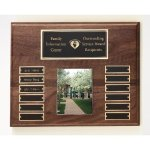Walnut Perpetual Photo Plaque Employee Awards