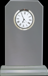 Clipped Corners Clear Glass Clock Employee Awards