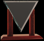 Diamond Triangle Clear Glass Award Employee Awards