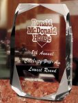 Square Multi-Faceted Clear Acrylic Award Employee Awards
