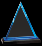 Blue Triangle Impress Acrylic Award Employee Awards
