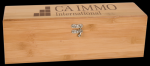 Bamboo Wine Box With Tools Employee Awards