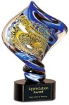 Diamond Twist Art Glass Award Executive Gift Awards
