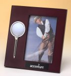 High Gloss Rosewood Finish Photo Frame Golf Awards