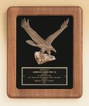 American Walnut Frame Plaque with Eagle Casting Golf Awards
