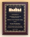 Rosewood Piano Finish Plaque with Brass Plate Religious Awards