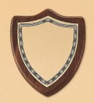 Walnut Shield Plaque Religious Awards