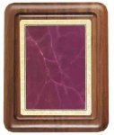 Walnut Plaque with Burgundy Marble Plate Sales Awards