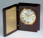 Piano Finish Mahogany Book Clock Sales Awards