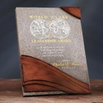 Wave Moonstone Plaque Sales Awards