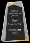 Gold Acrylic Facet Wedge Sales Awards