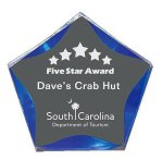 Blue Luminary Star Acrylic Sales Awards