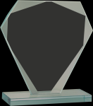 Cut Diamond Jade Glass Award Sales Awards