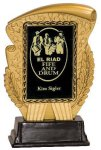 Gold & Black Rectangle Insert Holder Resin Award Sales Awards