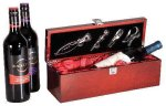 Rosewood Piano Finish Single Wine Box With Tools Secretary Gift Awards