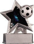 Soccer - Silver Star Motion Series Resin Silver Star Motion Resin Trophies